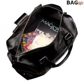 Кожаная дорожная сумка Brialdi Newcastle (Ньюкасл) shiny black 6cd01f18239